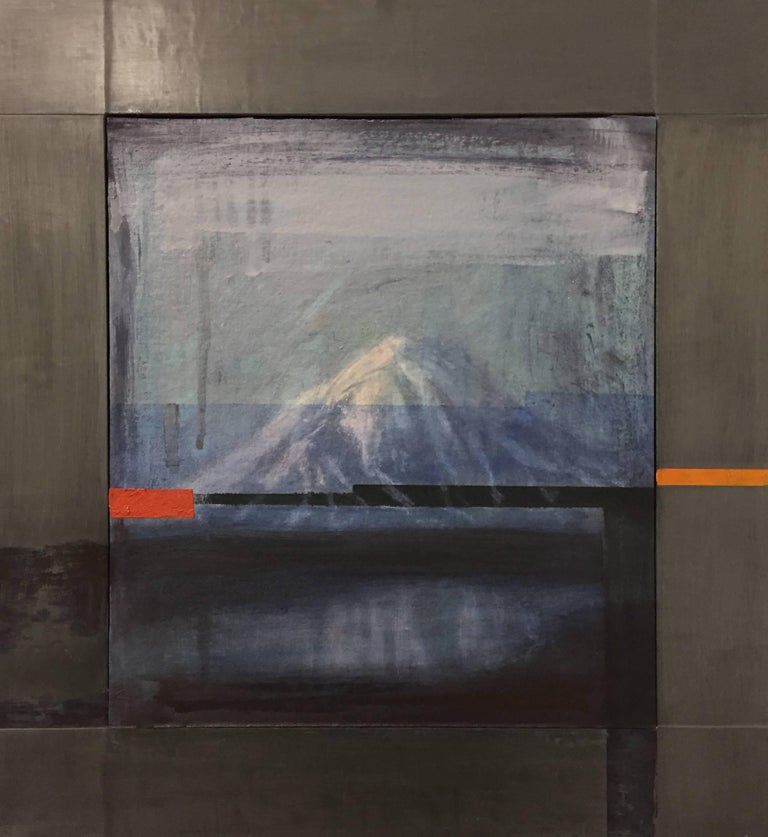Adam Straus Abstract Painting - Volcano Glitch 2