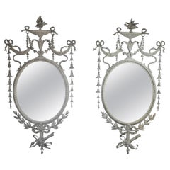 Adam Style Decorative Gesso Mirrors