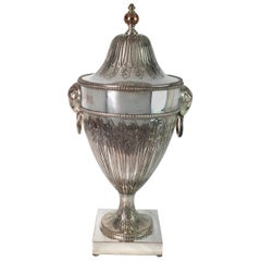 Adam Style Silver on Copper Covered Unn, Ice Bucket