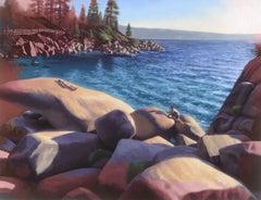The Sunbathers (2), Painting, Oil on MDF Panel
