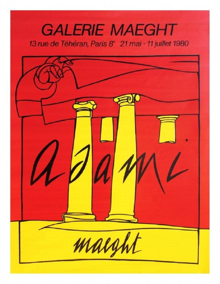 Adami Galerie Maeght 1980 Poster In Good Condition For Sale In Melbourne, Victoria