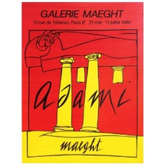 Adami Galerie Maeght 1980 Poster