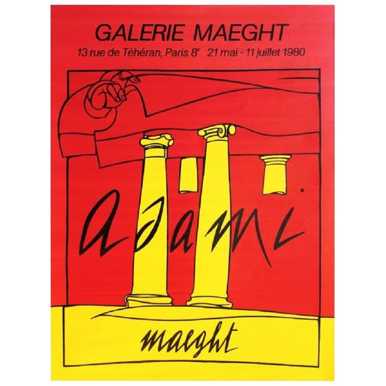 Adami Galerie Maeght 1980 Poster For Sale