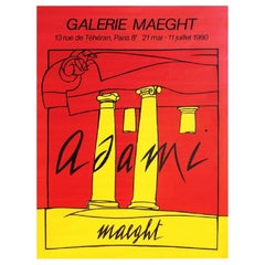 Adami Galerie Maeght Original Vintage Poster