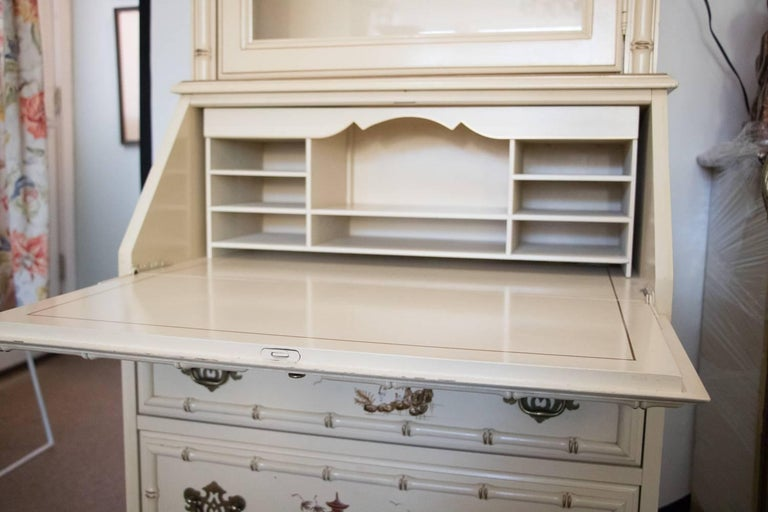 Petite Vintage Chinoiserie Secretary Or Cabinet 1950 At