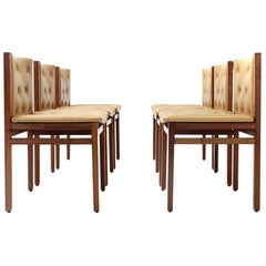Added Dining Chairs by Tito Agnoli for La Linea, 1960s, Set of Six