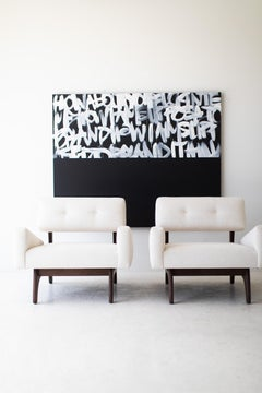 Abstract contemporary art, Black and white Abstract Art: It Just Happened