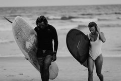 Surfers with surfboards on a beach : Oceanside Trist 914