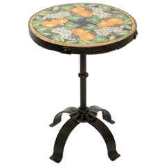 Addison Mizner Iron Tile Top Accent Table