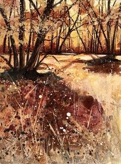 Adele Riley, Autumn Light, Original Landscape Painting, Contemporary Art