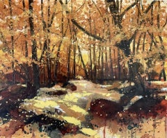 Adele Riley, Autumns Colours, Contemporary Landscape Art, Affordable Art