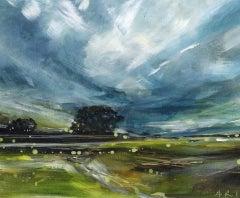 Adele Riley, Changing Clouds, Original Landscape Art, Contemporary Art