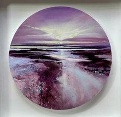 Adele Riley, Horizons Glow, Original seascape painting