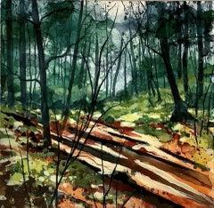 Adele Riley, Long Shadows, Original Landscape Painting, Affordable Art