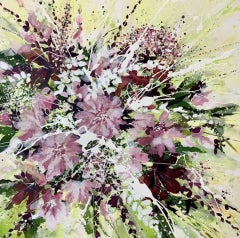 Adele Riley, Loves Hope, Contemporary Floral Painting, Original Art