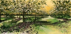 Adele Riley, Orchard Blossom, Contemporary Landscape Painting, Affordable Art