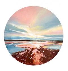 Adele Riley, Porthgwarra Dawn, Seascape Art, Cornish Coast Painting
