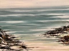 Adele Riley, Sea Mist, Seascape Art, Original Painting, Affordable Art