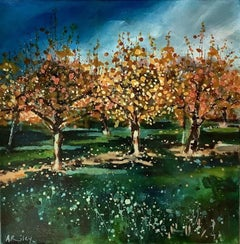 Adele Riley, The Old Orchard, Original Landscape Painting, Contemporary Art