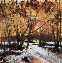 Adele Riley, Tumbling Brook, Contemporary Landscape Painting, Affordable Art