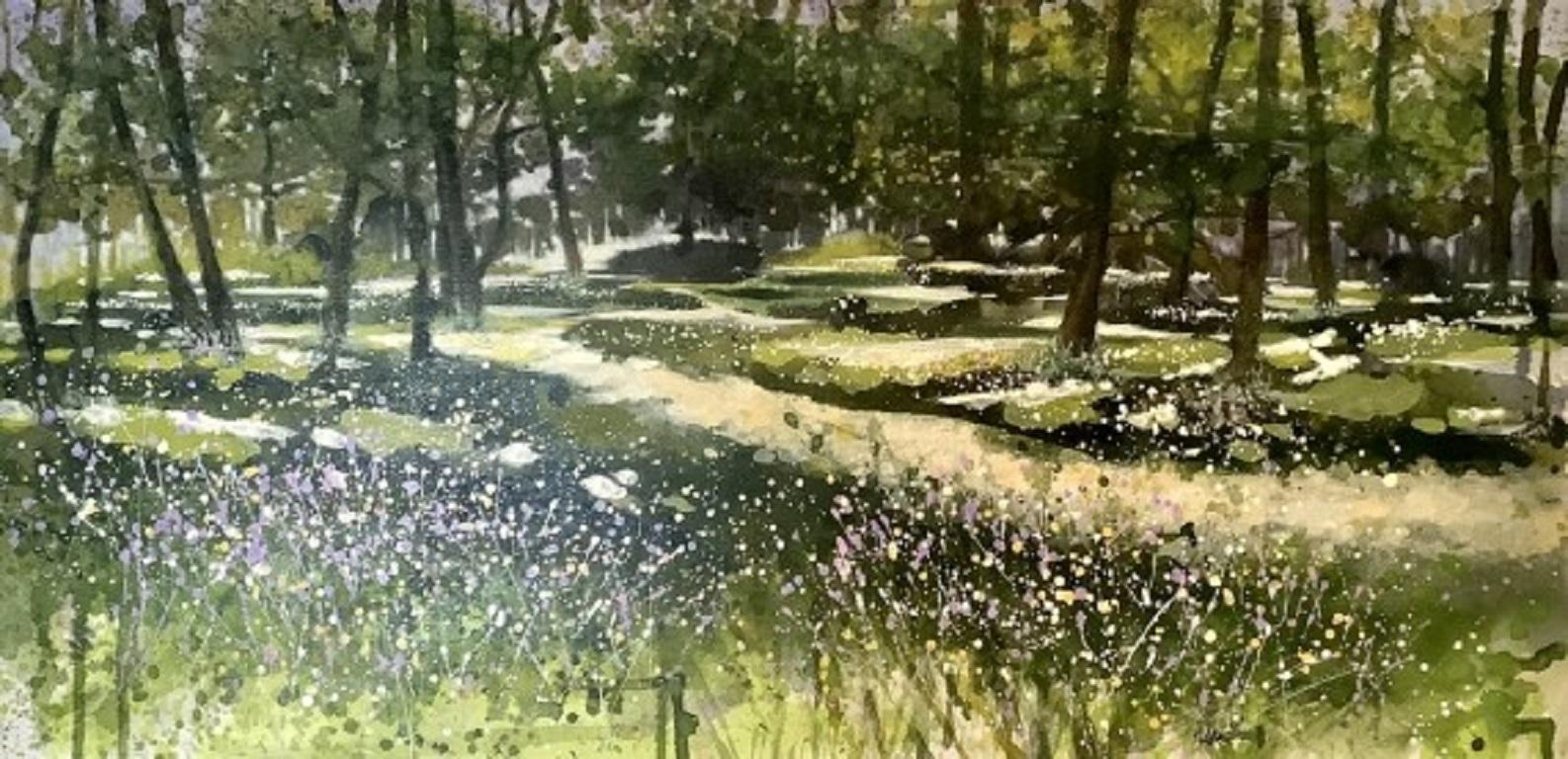 Adele Riley, Wildflower Path, Original landscape painting