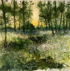 Adele Riley, Wildflower Wood, Contemporary Art, Affordable Original Painting