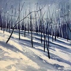 Adele Riley, Winter Blanket 2, Woodland Landscape Painting, Affordable Art