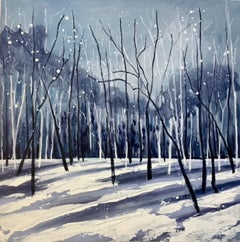 Adele Riley, Winters Blanket 1, contemporary Landscape Art, Affordable Art