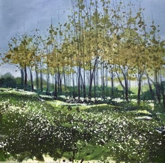 Adele Riley, Within The Wild Garlic, Original Landscape Painting, Affordable Art