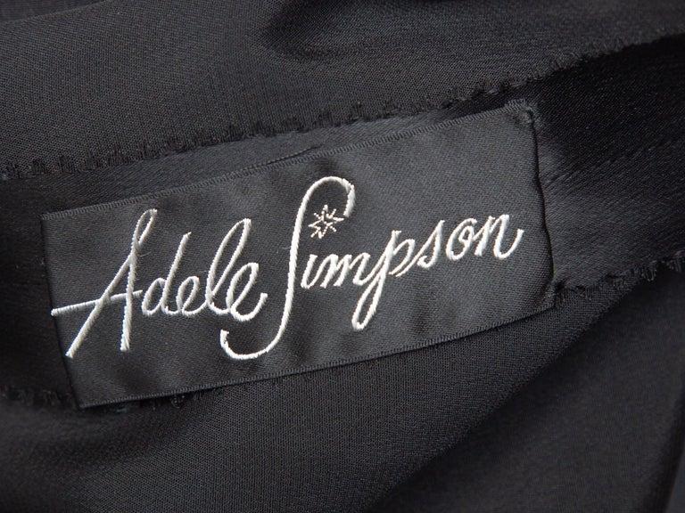 Women's Adele Simpson Black Lace Sleeveless Dress For Sale