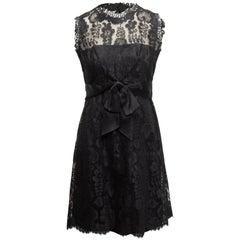 Adele Simpson Black Lace Sleeveless Dress