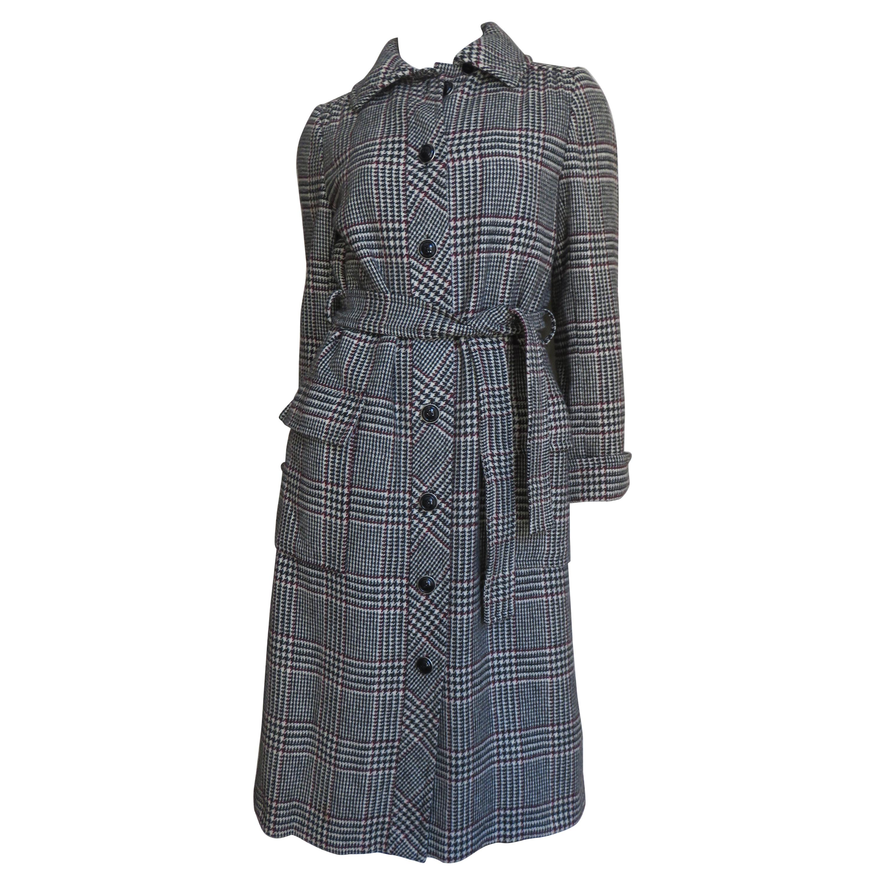 Adele Simpson Trench Coat and Skirt Set 1960s