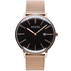 Adexe Rose Gold Stainless Steel Meek Grande Quartz Wristwatch