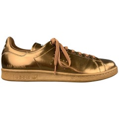 ADIDAS by RAF SIMONS Size 12 Copper Leather Lace Up Stan Smith Sneakers
