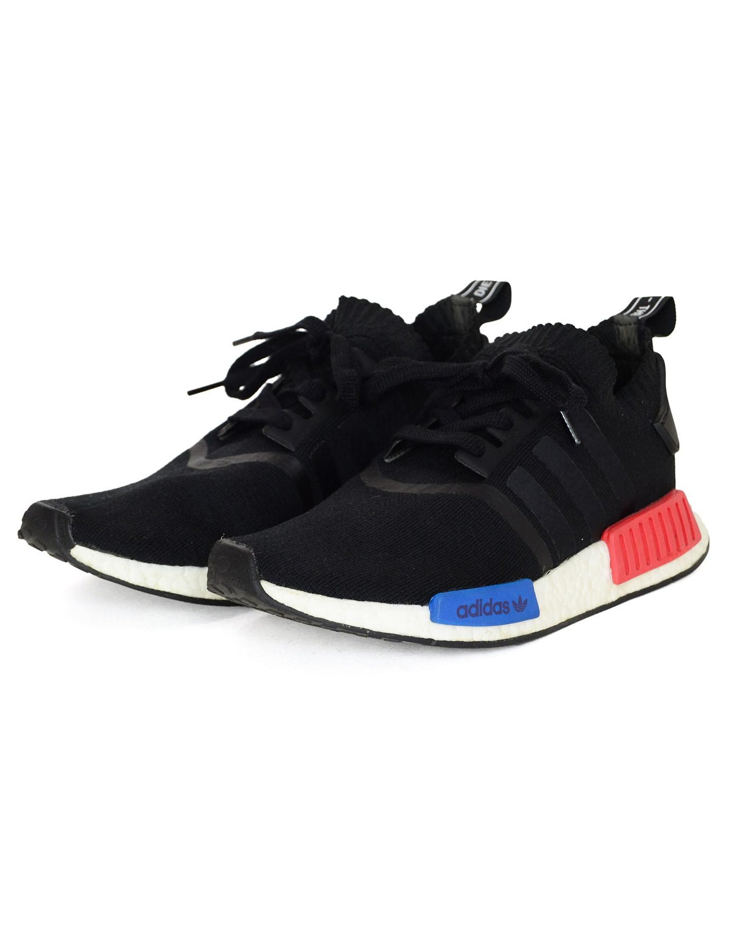 5e9e04aeb5291 Adidas Limited Edition Black Red Blue NMD R1 PK OG 2017 Release sz Men s 7  For Sale at 1stdibs