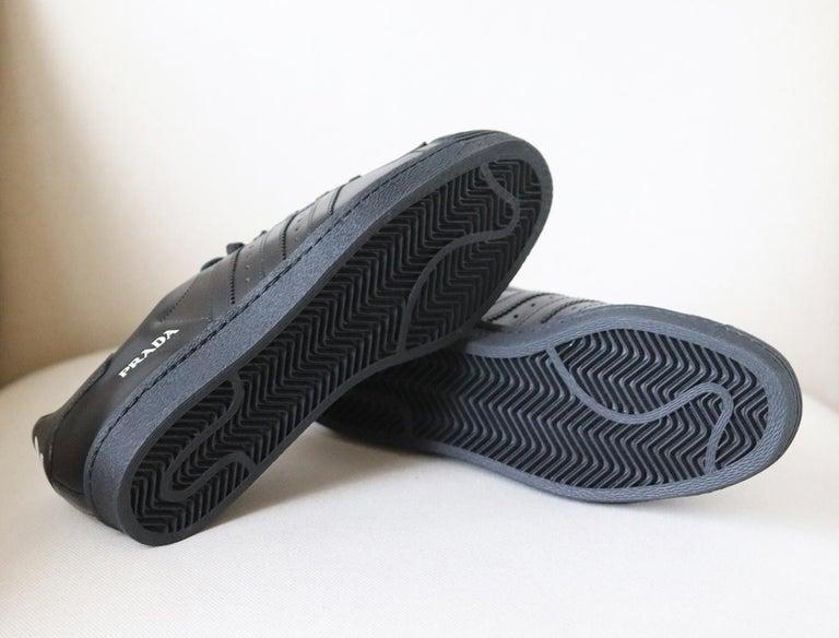 Women's or Men's Adidas Originals + Prada Superstar Leather Sneakers