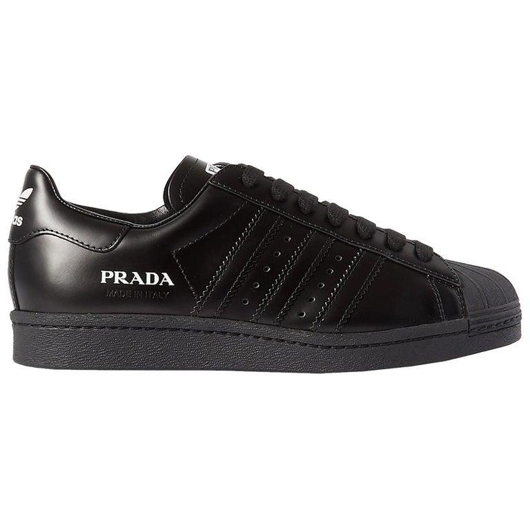 Adidas Originals + Prada Superstar Leather Sneakers