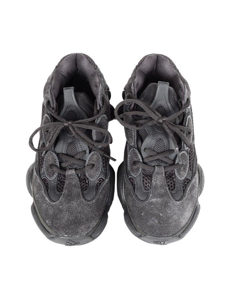 Adidas x Yeezy Unisex 2018 500 Desert Rat Utility Black Sneakers Sz M 7, W 8.5 5