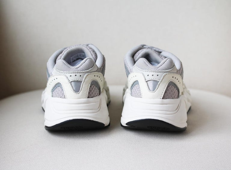 Women's or Men's Adidas Yeezy Boost 700 V2 Mesh and Leather Sneakers For Sale