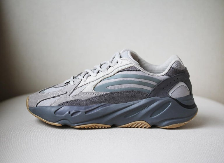 Since adidas Originals' first collaboration with Kanye West back in 2013, each release has garnered huge success - we expect his 'Yeezy Boost 700 V2' sneakers will cause the same kind of frenzy. This taupe, grey, and white pair is made from