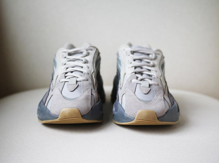 Adidas Yeezy Boost 700 V2 Mesh and Suede Sneakers In Excellent Condition For Sale In London, GB