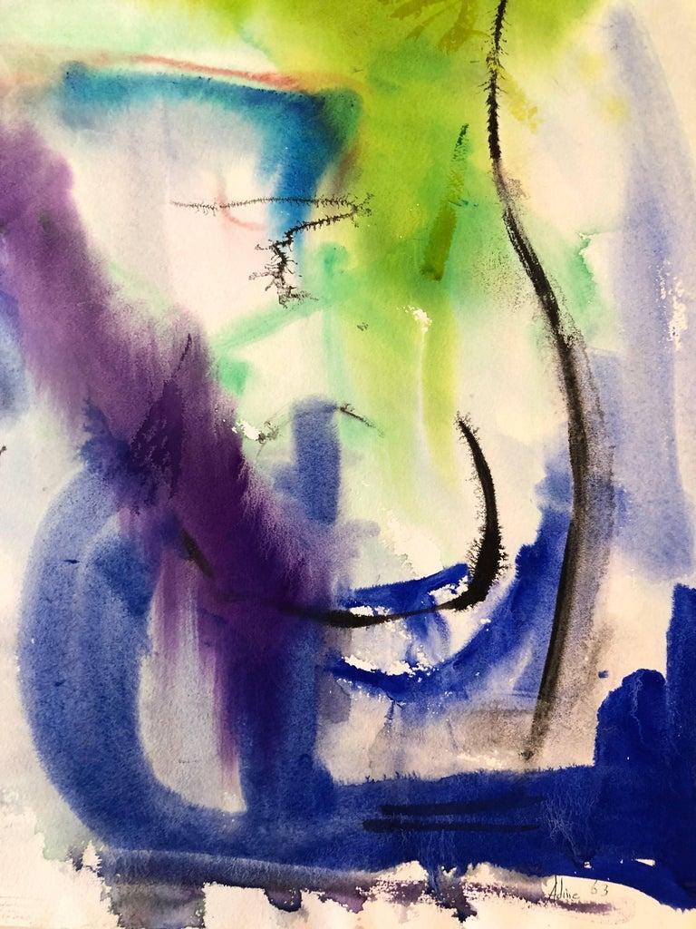 Untitled - Painting by Adine Stix