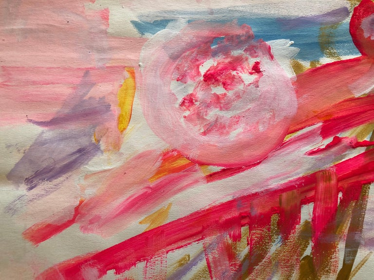 Untitled Landscape (1967) - Painting by Adine Stix
