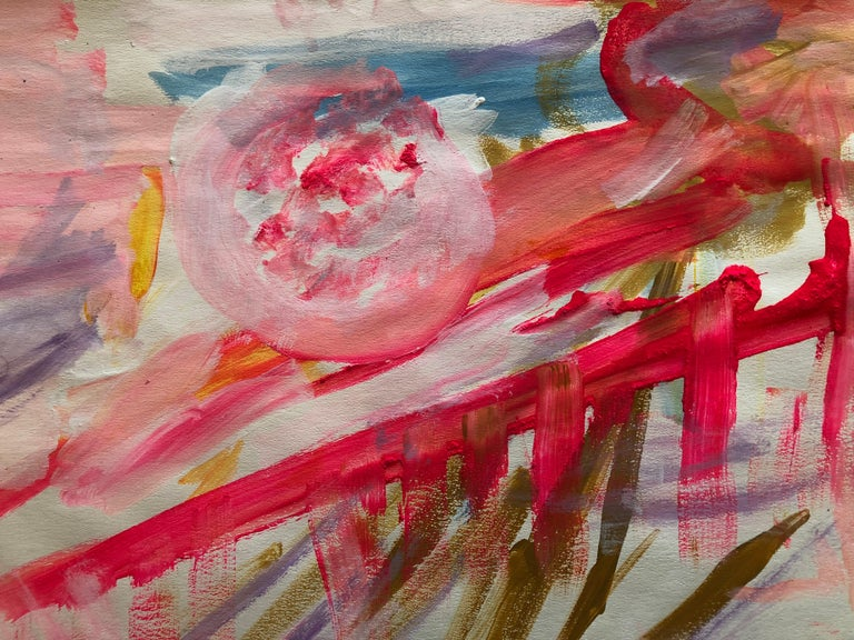 Untitled Landscape (1967) - Abstract Expressionist Painting by Adine Stix