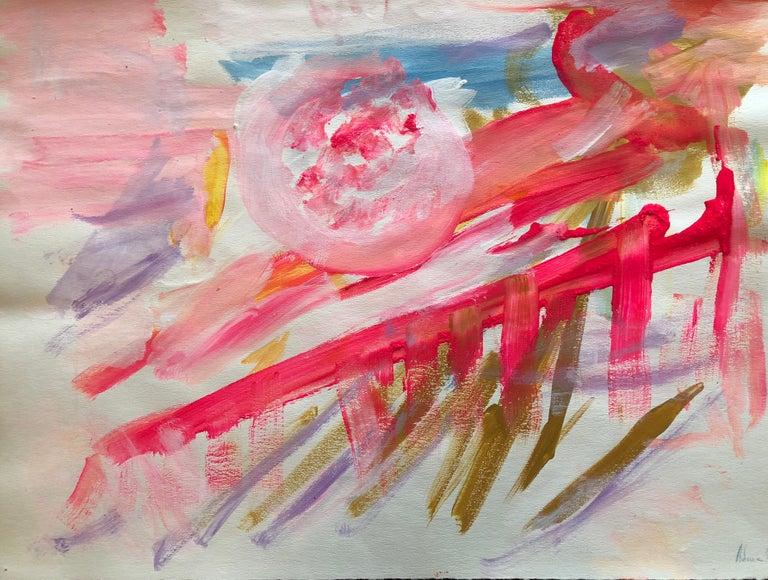 Adine Stix Abstract Painting - Untitled Landscape (1967)