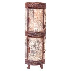 Adirondack Cylindrical Bar Cabinet