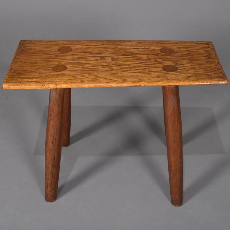 Adirondack Old Hickory School Hand-Carved Mortice & Tenon Slab Wood Bench For Sale 1