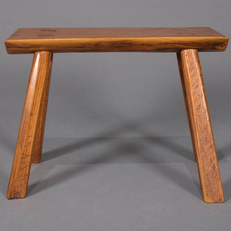 Adirondack Old Hickory School Hand-Carved Mortise & Tenon Slab Wood Bench For Sale 5