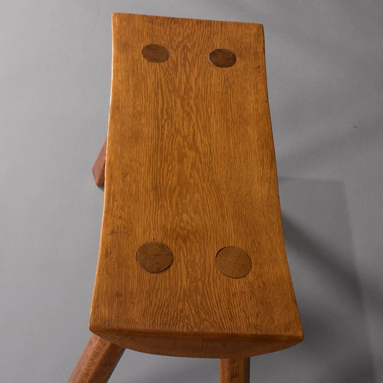 Adirondack Old Hickory School Hand-Carved Mortise & Tenon Slab Wood Bench In Good Condition For Sale In Big Flats, NY