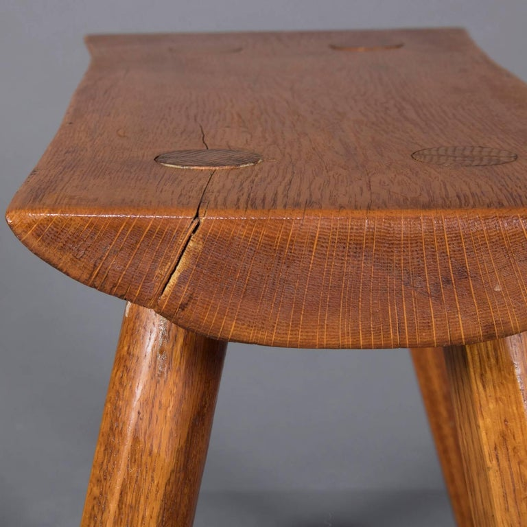 Adirondack Old Hickory School Hand-Carved Mortise & Tenon Slab Wood Bench For Sale 3